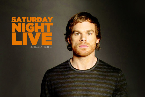 mchdaily:  The Dexter season 6 premiere is coming up in just a couple weeks, which means Michael C. Hall will probably be making a trip to NYC soon to start doing press for it like he did last year around this time. How awesome would it be if this time around included him hosting an SNL episode! Click!