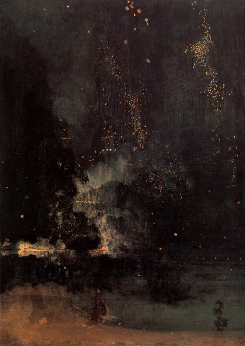 lecollecteur: James Abbott McNeil Whistler, Nocturne in Black and Gold: The Falling Rocket, 1874.