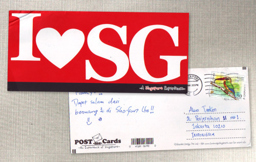 kartuposku:  Thank you my sistaah for this I love SG postcard! | @DevilishChris