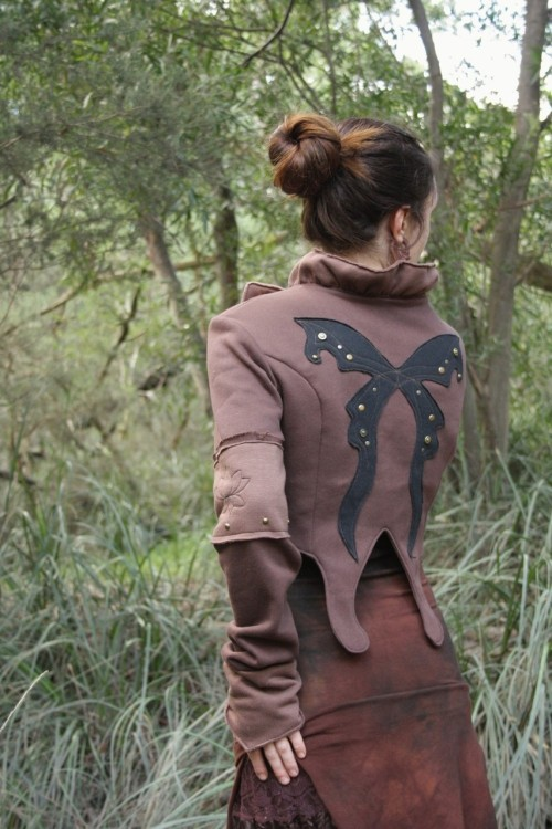 Papilionidae butterfly jacket from Tanaya on etsy.