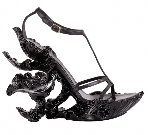 "whitepajamas:  morbidfashion:  (via Shoeturday: Black Iris |)  I don't even wear heels, but every time I see these shoes, I go weak everywhere. I don't want to wear them, I just want to take them somewhere nice and tell them how beautiful they are. I want to have a wholesome and fulfilling relationship with these shoes, before they leave me for someone with slender ankles and shapely calves, and I spend all my time eating chocolates and looking at pictures of them together, on facebook, hoping to see a hint of remorse in either of their eyes, even though they're never going to be anything but happy and beautiful, together, reaching heights I could never have taken the shoes to. In the end, I'll show up to one of their Krug and shepherd's pie parties, embarrassingly drunk, in a pair of strappy sandals far too young for me, and stand on top of their piano to give a drunken rendition of ""If I Fell"", by the Beatles, before ironically falling from the piano and hitting my head on their grey Spanish slate floor, resulting in unconsciousness and memory loss. In the hospital, a nurse will give me a pair of sensible gym boots for my first walk outdoors in a week, and I will learn to love them and respect myself, once more. We will move to a place in the country, where we'll take to reheeling worn down school shoes for the less fortunate and live out our years in quiet contentment."