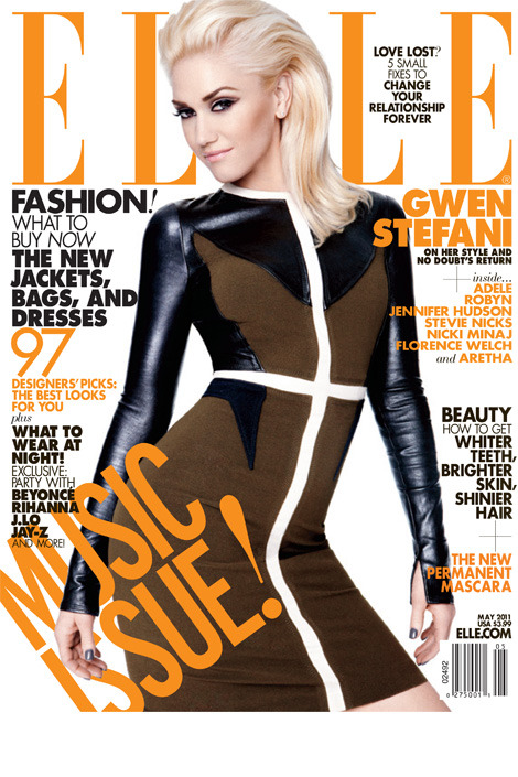 Gwen is looking better than ever, snagging the newsstand cover for ELLE Magazine's highly-anticipated 'Women in Music' issue for May 2011. #iaintnohollabackgirl Sidenote: She's rockin' Givenchy Pre-Fall 2011 :D (via elle)