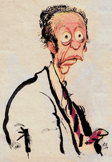 Don Knotts by Ronald Searle 1970 (via TV Guide)