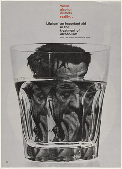 When Alcohol Distorts Reality, 1963 design by Rolf Harder (see more of his work via MoMA)