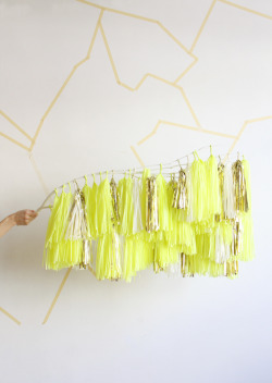 confettisystem: Tassel Branch, Limon.  Check out our new installation at Crewcuts, 50 Hudson Street NYC.  Photo by CONFETTISYSTEM