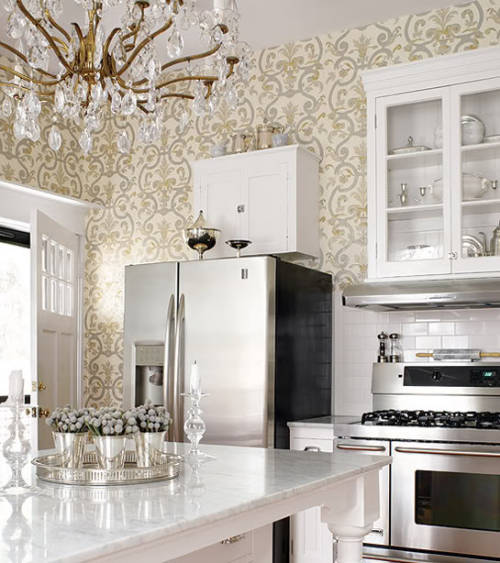 turquoisetulipsandbliss:  Wednesday's Wallpaper Wonders…. In the Kitchen!