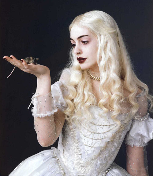 The Evolution Of Anne Hathaway 19. Alice in Wonderland (2010)Tim Burton's adaptation of Lewis Carroll's children's classic opened to distinctly mixed reviews, but it's unlikely that anyone involved was too bothered about that, as it went on to gross over $1 billion at the box office.It's searching for a plot, and could've done with a gutsier heroine (imagine if it had have been Hathaway playing Alice), but the visuals are enough to keep you distracted for the running time. And Hathaway is spot-on as the White Queen: pale, poised, otherworldly and just a little nuts.Anne Hath-A-Way with… Nigella Lawson impressions, as Burton instructed her to channel the domestic goddess.