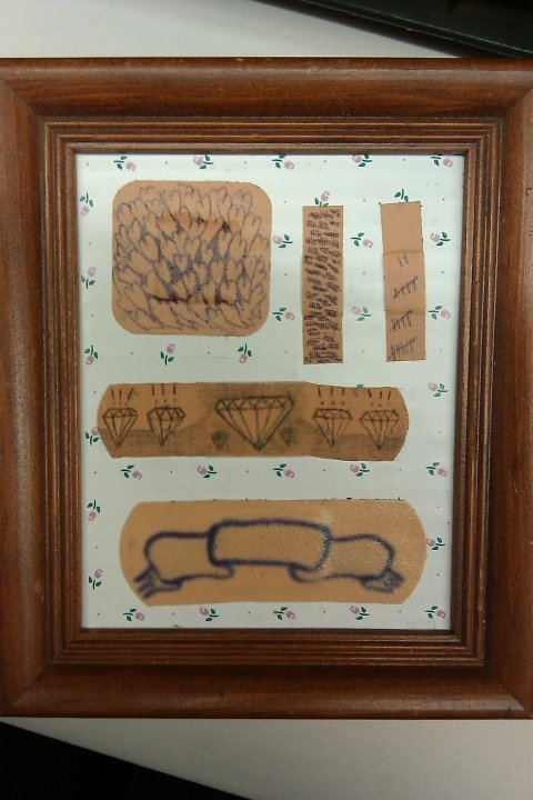 Band-Aid Art, framed