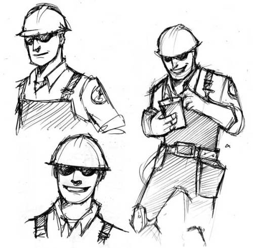 Oh Engie, you're my favorite class to play as and all, but I can't seem to draw you just right. >:[