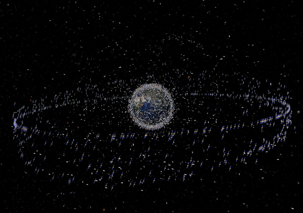 Every Satellite, Spacecraft, and trackable piece of Space Junk in orbit around Earth.