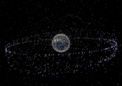 ex-genius:  Every Satellite, Spacecraft, and trackable piece of Space Junk in orbit around Earth.  We sure are a messy bunch.