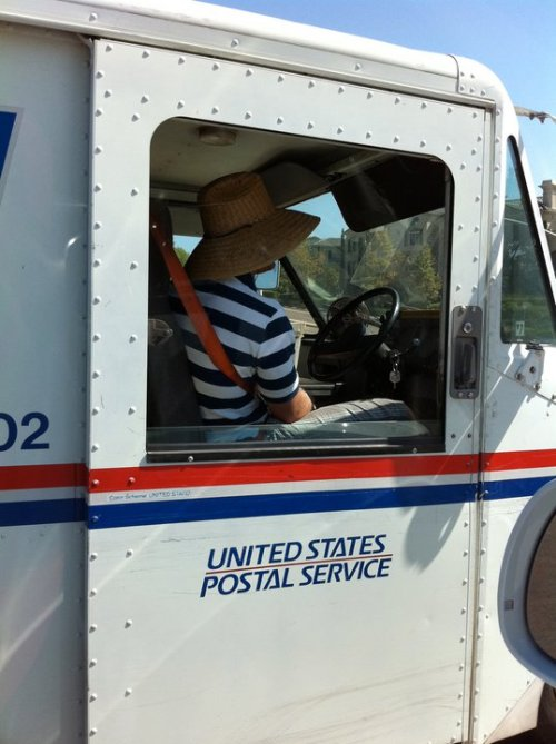 "matchbookmag:  California postal service :)  Gives a whole new meaning to ""going postal."""