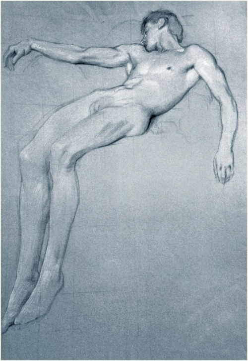 msbehavoyeur:  Study for Icarus ~ Herbert James Draper (1863–1920), 1898  via