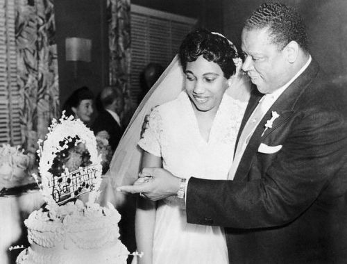 Leontyne Price and William Warfield on their wedding day in August, 1952.