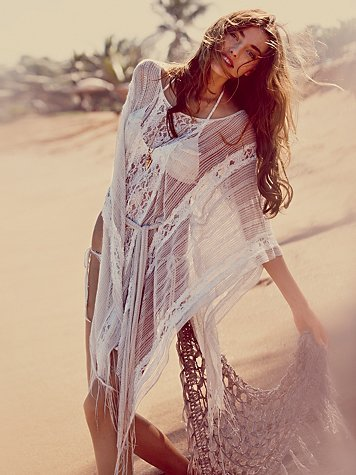 abysso-pelagic:  free people's runaway lace kaftan price: $138.00colors: cream, black   Lace Kaftans, so beautiful and summery! We have a beaded lilac one in store: www.tinyurl.com/honestfolk