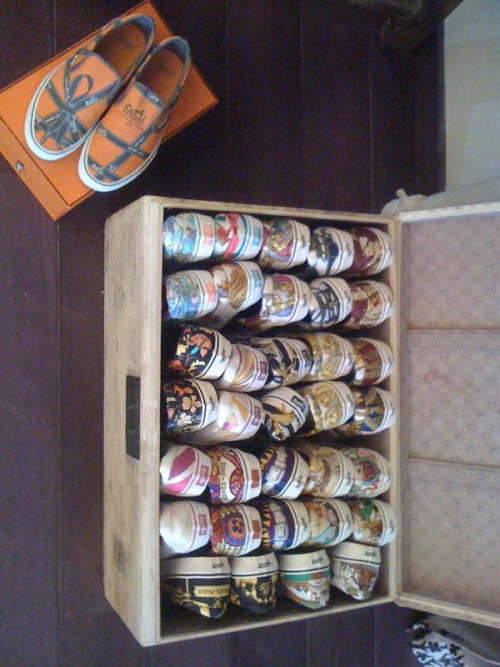 Robert Verdi's collection of custom Hermes scarf Vans. So StyledOn.
