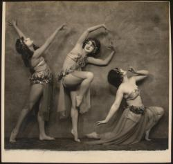 thetranscendentalmodernist:  Marmein Dancers in a drama dance - Nickolas Muray - c. about 1924