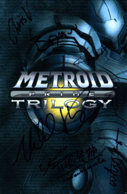 Auction: Metroid Prime Trilogy (Wii) Signed By Dev TeamDevin Monnens of Metroid Database has kindly auctioned a signed copy of Metroid Prime Trilogy.This very rare copy of Metroid Prime Trilogy was signed by Nintendo's Kensuke Tanabe (Producer) and Retro Studios' Michael Kelbaugh (Producer), Bryan Walker (Director of Development), Ryan Powell (Lead Artist), Chris Voelmann (Technical Artist), Will Bate (Lead Animator), and Aaron Walker (Senior Engineer). The game was signed at GDC 2011 by the development team, and there are very few in existence. A must-have for the ultimate Metroid collector!On top of that, don't forget that this game is now out of print. The auction closes on April 10 at 23:00:47 PDT. All proceeds will benefit the American Red Cross.
