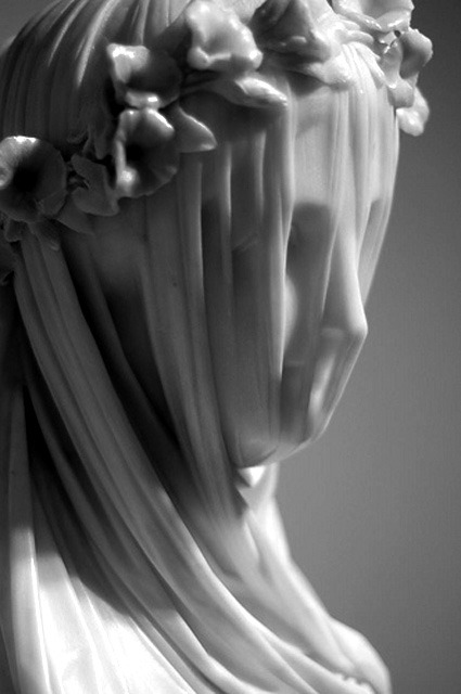 aconversationoncool:  The Veiled Vestal Virgin - Raffaele Monti, 1847