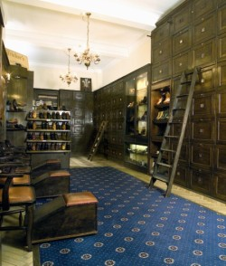 Interior of the Trickers flagstore in London on Jermyn Street