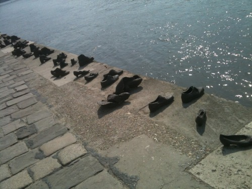 Shoes on the Danube holocaust memorial.