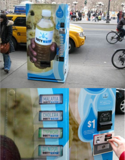 szymon:  clever UNICEF campaign: dirty water from vending machine