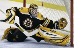 VICTORY! I will celebrate with pictures of Tim Thomas being a badass.
