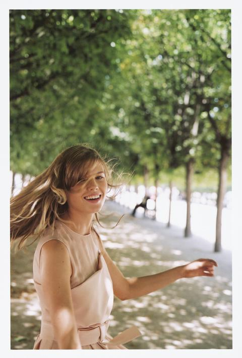 Maryna Linchuk photographed by Sofia Coppola during her Miss Dior Cherie commercial shoot