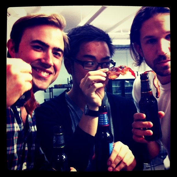 reecepacheco:  team @onshelby bought bacon for all the @TechStars tonight. awesomeness ensued. (Taken with instagram)