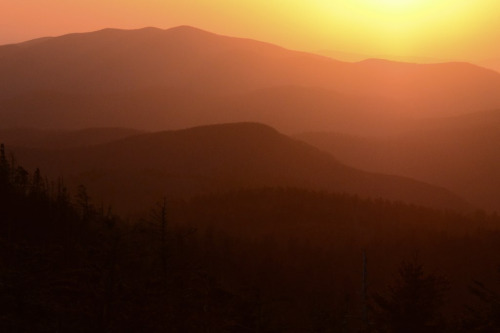 Tennessee orange(s) The view west from Clingmans Dome, looking towards Thunderhead and Cades Cove.