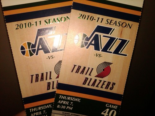 My first Jazz game of the season will be tomorrow night! I'm super excited because they broke they're losing streak against the Lakers last night at the Staples Center!