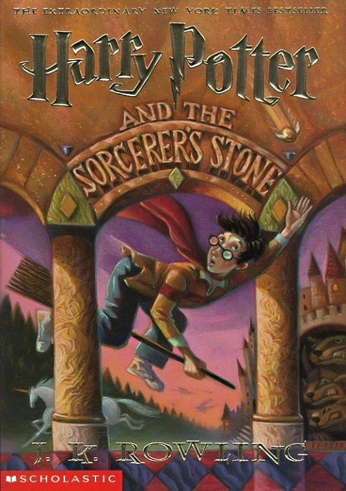 Harry Potter and the Sorcerer's Stone, written by J.K. Rowling - 1998  Tonight, I learned that James had never read a single Harry Potter book in his life. Ever. This is changing ASAP. I'm crazy and I have all the books in paperback and hardcover (except for the 7th in hardcover and the 6th in paperback - but this is changing too, courtesy of Amazon). So we're going to read/re-read the books together :3 <3