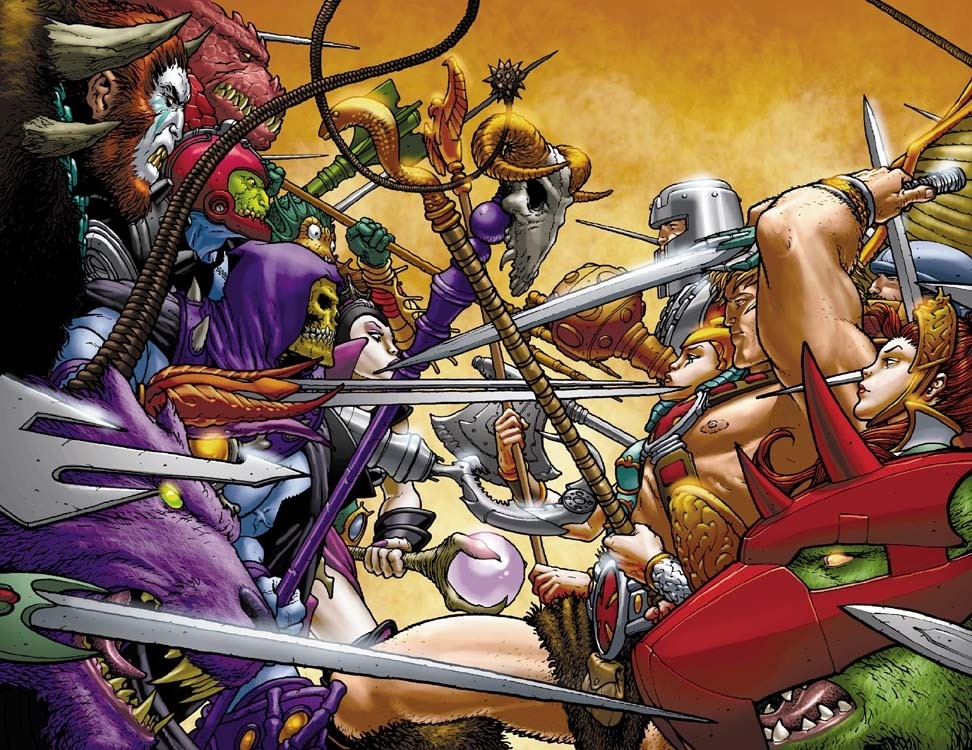 An oddity: an old incentive cover by Frank Quitely for the relaunch of He-Man from 2004 (via iFanboy).