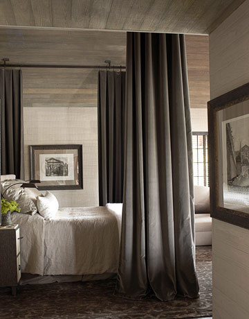 house beautiful - bedroom in alabama lake house