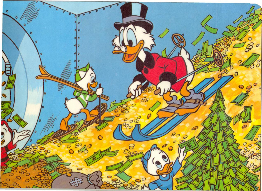 "Scrooge McDuck tops Forbes' 'Fictional 15′ listA miserly duck, a vampire and pair of precocious kids are among the richest fictional characters, according to a ranking by Forbes.Scrooge McDuck, the ""penny-pinching poultry"" with a fortune in gold coins whose estimated worth is US$44.1-billion, headed the list of Forbes' ""Fictional 15″ wealthiest imaginary characters. But despite his riches, McDuck still trails Microsoft founder Bill Gates' US$53-billion.Vampire-themed franchises have become big business, so it's no surprise that Carlisle Cullen, the 370-year-old vampire from the Twilight books and films who has been accruing interest on a small savings account since 1670, came in second with US$36.2-billion."