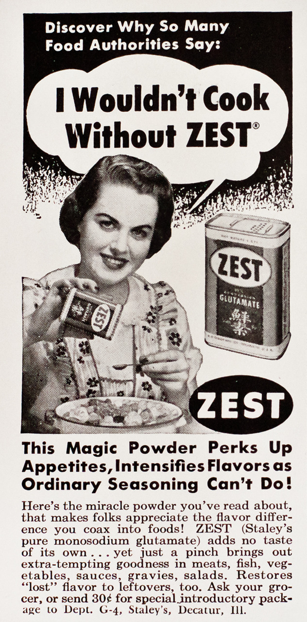 Zest Advertisement - Gourmet: April 1951