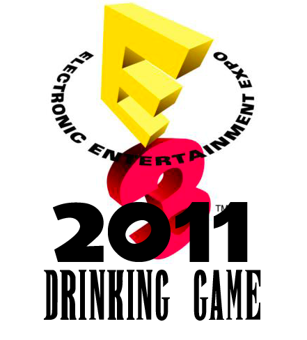 "E3 2011 Drinking Game I apologize that this is a bit late, but if there are still some press conferences that have yet to happen and I know many of you who haven't had time to watch the conferences yet.  This is an E3 Drinking game created by Jamie Young of Pixelitis.net.   Now, E3 can be a glorious time for gamers.  Exciting new game footage is shown, new consoles are debuted, and sometimes some very big surprises are announced.  Unfortunately, it's also a time where we're often met with great disappointment.  But that's life.  So cheers, moogles! Let us drink to the hope that all our E3 wishes come true.  Grab some friends and your favorite brews and let's see what happens.  Microsoft's Conference Drink once for every time… Call of Duty exclusive content is mentioned. Having the best online network is mentioned. Announce Kinect game that doesn't appeal to core gamers. Awkward girl actress portrays what girls might do with an Xbox 360. ""XBOX (insert command here)"". A non-videogame celebrity goes on stage. Down the whole can if XBOX Live increases in cost again. Nintendo's Conference Drink once for every time.. Reggie Fils-Aime takes a long pause. For every statistic from Reggie. Whenever there is a statistic that made the 3DS launch bigger than it actually was. Miyamoto shows up ""out of no where!"" Skyward Sword is pushed back to have a Zelda launch title.. again. A game rehash is announced. Down the whole can if… The Vitality Sensor is coming to Project Cafe! Sony's Conference Drink once for every time.. Sony apologizes. Big promises to make up for lost network time. New video footage for the third of a series (Uncharted 3, Resistance 3, Mass Effect 3). Kevin Butler tries to cover up the Playstation Network issue with a fun joke. Kaz Hirai says something that will become a meme. Home improvements, such as new t-shirts, a real trophy room or Tim Allen. Down the whole can if PSN actually went down to prep Home servers for full release. NGP is announced free for all PS+ members… until they remember everyone is temporarily PS+ members, and they quickly cover up the announcement. General E3 Drink once for every time.. A technical error occurs. The audience awkwardly laughs at a bad joke out of obligation. The audience laugh's at someone's word slip or mistake. Immediately get drunk if… Hideo Kojima shows up. Again, thank you to Jamie Young from Pixelitis.net for creating and submitting this entertaining game."