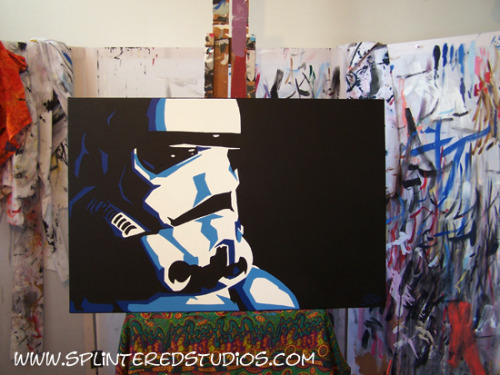 LATEST PAINTING - Storm Trooper Blue…..Star Wars! http://splinteredstudios.com/StormTrooperBlue.htm