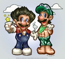 JERSEY SHORE VS SUPER MARIO BROS Started doodling this while stuck in a meeting. i know a guido when i see one.