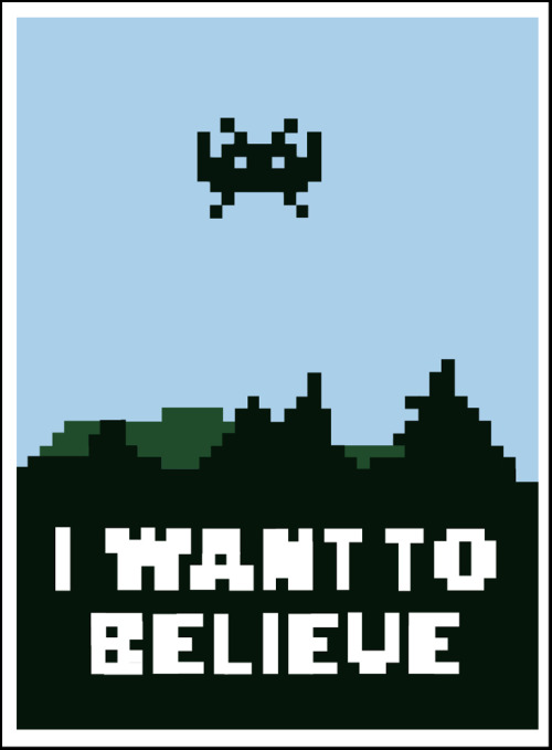 I Want to Believe - by Dann Matthews Prints and skins available at Society6.