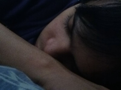 my darling's so cute when sleeping. <3