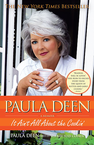 We admit: we want Paula Deen to be our grandmother. Say what you will, but the unabashedly loud, unflappably raucous southern chef with a well-documented fetish for butter has quite the strong personality. We didn't know how strong, though, until we read It Ain't All About The Cookin', Deen's memoir detailing her dirt-poor upbringing, her crippling agoraphobia and her struggles raising her sons Jamie and Bobbie, who, let's face it, come across as ungrateful twerps through the book's early portions.   Our 10 fave chef memoirs.