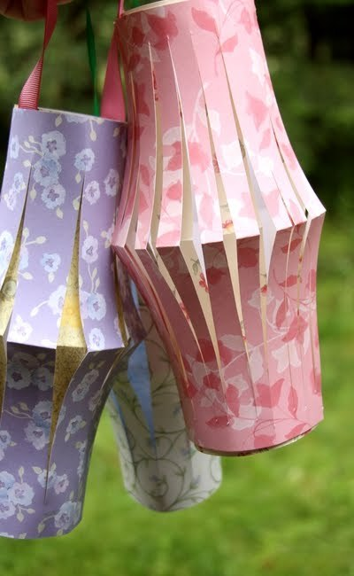 vintagerosegarden:  DIY~Heather Mann~Dollar Store Crafts~Summer Paper Lanterns