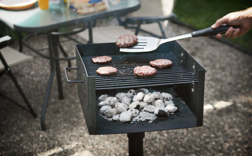 Now you can have all the enjoyment of cooking on a public-style grill with none of the crippling fear of disease with the Park-Style Charcoal Grill ($100). This simple square grill offers a 256 square inch cooking area,  steel construction, an adjustable cooking grate, and an included post  for extra authenticity. via Uncrate