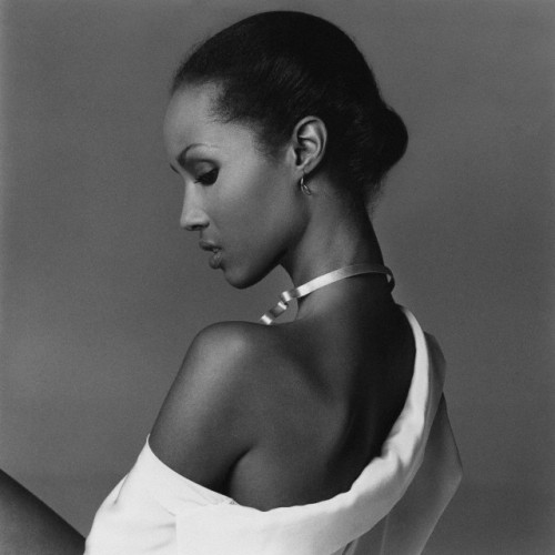 Iman, photographed in 1977 by Francesco Scavullo.
