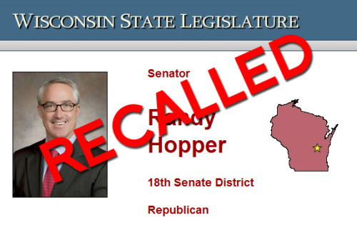 mohandasgandhi:   Down goes WI State Senator #2! By the way, this is the one with the mistress and the wife who joined in his recall effort.