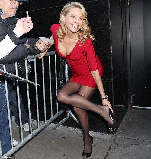 Hot damn. At 57, Christie Brinkley is still hot as hell Model and actress Christie Brinkley is currently starring as Roxie in the Broadway musical Chicago, and she stepped outside the theater yesterday to give photographers a good eyeful. Yes, that woman is 57. And yes, at one point in the past, Billy Joel banged that repeatedly. Damn. More pics here