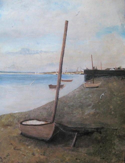 """Boat on Coast"" by Mark NobleArt of Day Featured Artist Modern Impressionist Paintings"