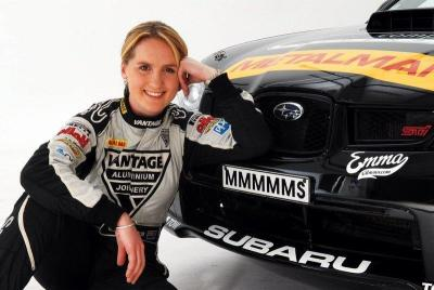 New Zealand Rally driver Emma Gilmour and her baby. :)
