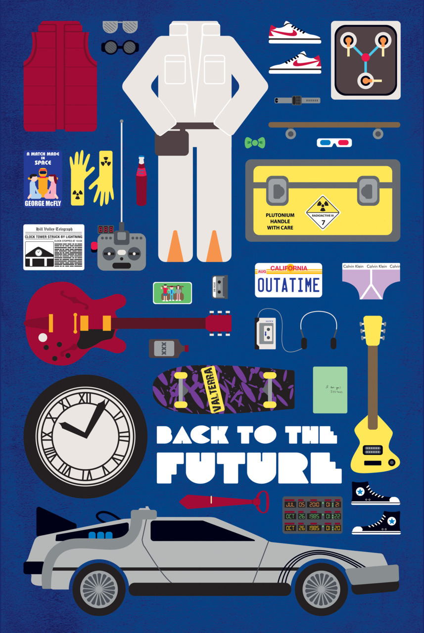 "fuckyeahmovieposters:  Back to the Future - ""Movie Parts"" Designed and submitted by Emma Butler"